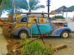 vintage surf vehicol