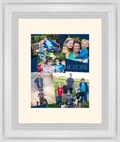 Gallery Collage of Five Framed Print, White, Classic, None, Cream, Single piece, 11 x 14 inches