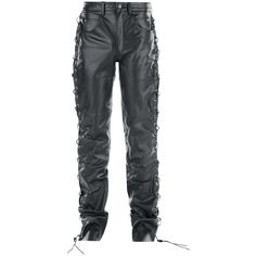 Leather Cord Trousers Pantaloni di pelle nero • EMP