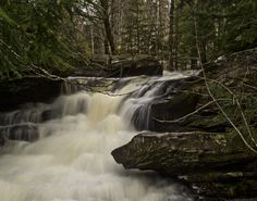 Garden Creek Falls after some rain in the Fredericton area (New Brunswick Canada)