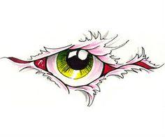 Eye Tattoo Design Stencil Art