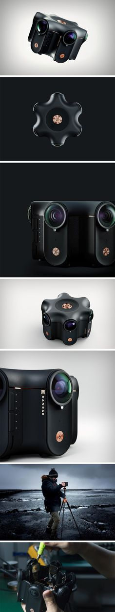 Colored black to look powerful and premium, and christened Obsidian because it's an unshakeable force to reckon with, Kandao's VR camera comes with 6 fisheye lenses arranged in a hexagonal layout. The Obsidian doesn't just shoot in 360°. It shoots in 3D 360°, using a clever algorithm that processes both left and right channels, stitching together the videos and images captured in real-time. it also shoots 8K at 30fps.