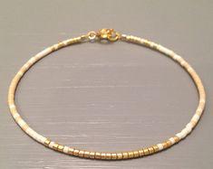 Fine Bracelet dainty bracelet gold seed bead by ToccoDiLustro