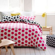 It is cool in  the black with green spots - Quilt Covers & Coverlets Felix Spot Bedroom