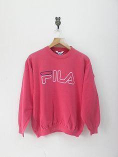 Vintage Fila Biella Italia Sweatshirt internationale Sport Wear Pullover trui Hip Hop Street Fashion rode kleur