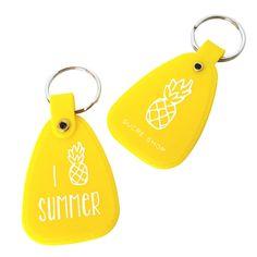 I Pineapple Summer Keychain