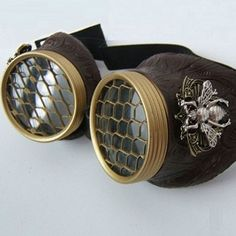 Steampunk bee-keeping goggles--not sure how much protection they'll provide, but amusing none-the-less.