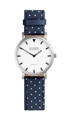 Poole Watch With Ocean Blue Polka Strap