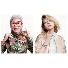 Нью-йоркский дизайнер ювелирных изделий Алексис Биттар выбрал для новой рекламной кампании своего бренда двух ярких представительниц модной индустрии: 18-летнюю Тави Гевинсон и 93-летнюю Айрис Апфель.
