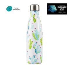 FREE SHIPPING. BPA FREE. OUR AMAZING AND SUPERB STAINLESS STEEL WATER BOTTLE CACTUS WILL IMMERSE YOU EVERY DAY INTO A BURNING DESERT. BE CAREFUL NOT TO BE PRICKED WITH ITS FLOWERS! This reusable insulated water bottle is designed with premium quality lightweight materials to accompany you anywhere. Whether camping, hiking or at work, you will be able to take your beautiful gourd with you in all simplicity. #insulatedbottle #stainlesssteelwaterbottle #metalbottle Insulated Water Bottle, Stainless Steel Water Bottle, Gourd, Cactus, Hiking, Camping, Free Shipping, Flowers, Beautiful