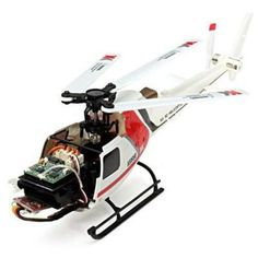 Brushless RC Helicopter BNF  -  RED WITH WHITE