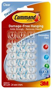 Command Clear Decorating Clips- Definitely need to get these for my house!