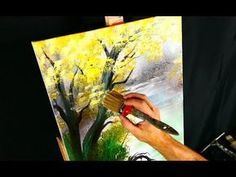 Simple Painting Deep Forest With Acrylic Paint And Round Brush