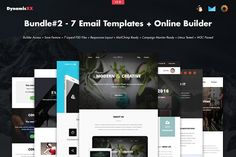 Bundle#2 - 7 Email Templates+Builder by DynamicXX on @creativemarket