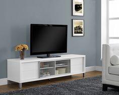 "Tv Stand - 70""L / White Euro Style"