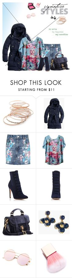 """""""Untitled #71"""" by craftsperson ❤ liked on Polyvore featuring Red Camel, J.Crew, Topshop, Gianvito Rossi, Proenza Schouler, Jouer and statementtshirt"""