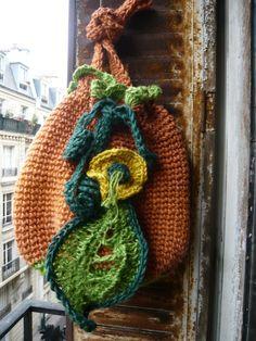 handmade crocheted jute twine pumpkin bagtote by lamamadesmatous, $90.00