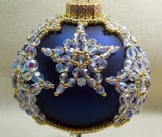 Christamas Star Ornament Cover: Beading Tutorial