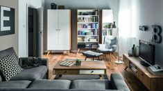 Scandinavian design bookcase NATURE - Home Page