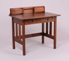Mission student desk plans desks pinterest desk for Craftsman style desk plans
