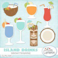 Island Drinks Templates #CUdigitals cudigitals.com cu commercial digital scrap #digiscrap scrapbook graphics