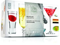 Molecule-R Cocktail R-Evolution Molecular Mixology Kit 3 Tools 50 Additives.  Wow!  Who knew you could do this yourself?