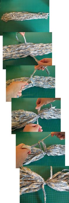 Things to make and do - Make Shabby Fabric Tassels (or Pom-poms)
