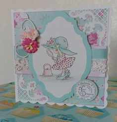 Handmade card using Lili of the valley stamps.