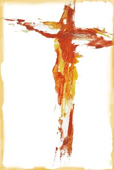 Christ On The Cross-Abstract W/C (M. Gervasio)
