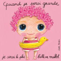 """Tableau d'Isabelle Kessedjian """"Quand je serai grande, je serai la plus belle en maillot"""" - Le Coin des Créateurs (Dessin Pour Maman)"""