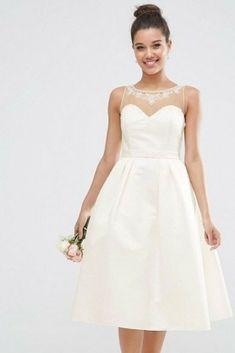 8eb6fa0d4b 20 vestidos de novia cortos  outfits cómodos y estilosos