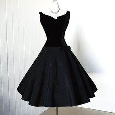 vintage 1950's dress ...classic audrey JUNIOR THEME new by traven7