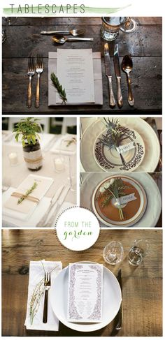 Herbs and spices are the perfect detail for a simple and beautiful tablescape