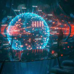 World earth hologram futuristic digital artwork CIA new retro wave futuriste FBI by Visualdon Futuristic Technology, Futuristic Design, Futuristic Architecture, New Retro Wave, Retro Waves, Concept Art Landscape, Arte Sci Fi, Sci Fi City, Cyberpunk City