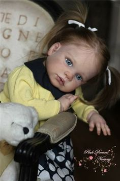 Gabriela Toddler by Regina Swialkowski & cloth body & chest plate - Pre-Order - Online Store - City of Reborn Angels Supplier of Reborn Doll Kits and Supplies