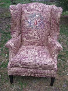 Embroidered chair by Richard Saja