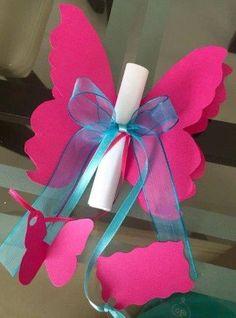 31 Graduation Ideas for Children's Graduation - Student On - invitation Butterfly Garden Party, Butterfly Birthday Party, Butterfly Baby Shower, Birthday Diy, Butterfly Invitations, Baby Shower Invitations, Birthday Invitations, Shower Party, Baby Shower Parties