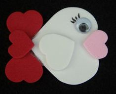 heart fish, Valentines craft