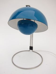 Verner Panton Flower Pot Desk Lamp   From a unique collection of antique and modern table lamps at https://www.1stdibs.com/furniture/lighting/table-lamps/