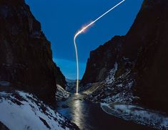 New Photographs by Kevin Cooley will be on show at Wendi Norris Gallery in San Francisco in July. The work consists of a series of quiet snowy nighttime landscapes interrupted by light (distress signals) shooting through the sky. (via designboom) Cosmos, Graffiti, Light Shoot, Long Exposure Photos, Grand Art, San Francisco, Light Beam, Light Painting, Light And Shadow