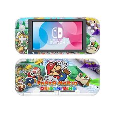 Paper Mario origami king Nintendo switch lite Skin | switch lite cover | Console skins world