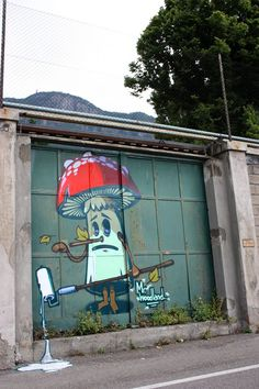 Artist :Mr.Woodland #streetart #graffiti Buy you paint at lazydazeco.com