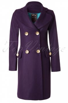 Edith & Ella - Classic Purple Wool Coat
