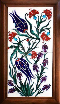 P&M Osmanlı Çini | Ürünler Ceramic Tile Art, Ceramic Design, Mosaic Art, Turkish Art, Turkish Tiles, Islamic Tiles, Islamic Art, Plum Art, Mexican Paintings