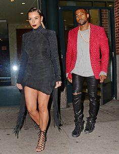 Kim Kardashian Wears Curve-Hugging, Short Black Dress With Kanye West - Us Weekly