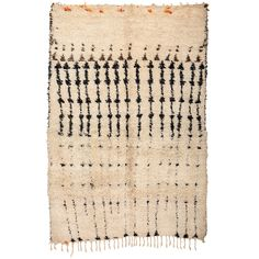 White Ground Berber Carpet | From a unique collection of antique and modern moroccan and north african rugs at http://www.1stdibs.com/furniture/rugs-carpets/moroccan-rugs/