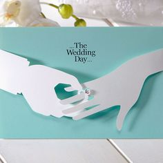 Mint Blue 3D Ring Unique Wedding Invitations - CHO 2859 | ItsInvitation