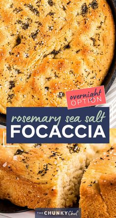 This easy focaccia recipe has a crispy crust, chewy middle, and plenty of herbs and salt in each bite! With the option to let the dough rest for just a few hours, or overnight, this bread recipe is perfect for any dinner or party! #bread #focaccia #rosemary #seasalt #baking #yeast #baked #artisan #homemade Best Bread Recipe, Bread Recipes, Pastry Recipes, Brunch Recipes, Breakfast Recipes, Dinner Recipes, Easy Focaccia Recipe, Homemade Slushies, Rosemary Focaccia