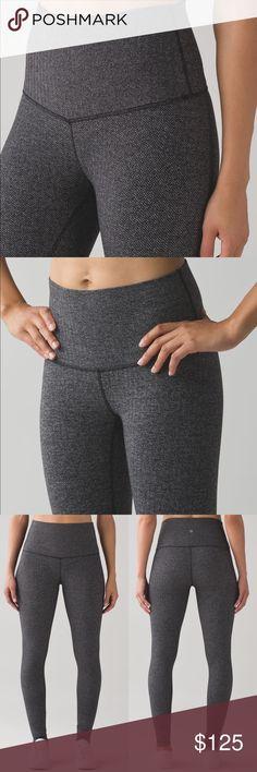 Lululemon Wunder Under Pant (Hi-Rise) Wunder Under Pant in Heathered Herringbone. NWT Luon material lululemon athletica Pants