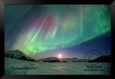 Turnagain Nights, aurora borealis photo from Alaska